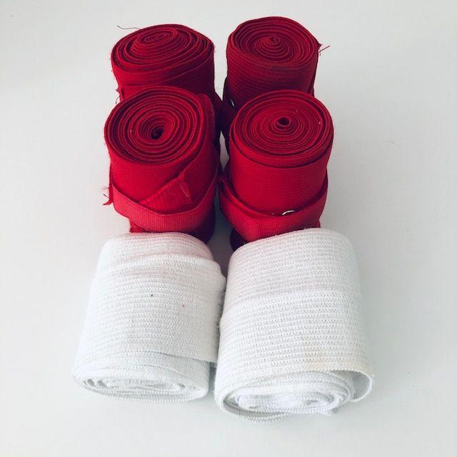Bandagen rot 4x und 2x weiss Set